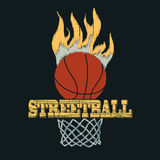 Basketball t-shirt -  illustration Stock Photography