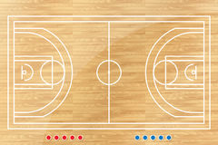 Basketball tactic table with marks. Vector illustration Stock Photography