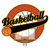 Basketball With Tail Banner Royalty Free Stock Photography