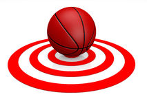 Basketball on Target Stock Images