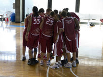 Basketball team Stock Photography