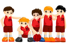Basketball Team Stock Photography