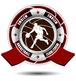 Basketball team emblem with ribbons Royalty Free Stock Image