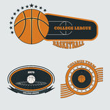 Basketball team emblem on white  backgrounds eps 10 Stock Photo