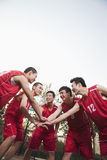 Basketball team gating ready for the game Royalty Free Stock Photo