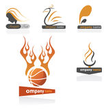 Basketball team logos. A set of logos in a sports or basketball theme Stock Image