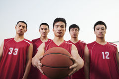 Basketball team, portrait Stock Image