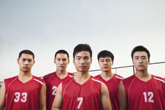 Basketball team, portrait Royalty Free Stock Photo