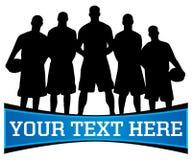 Basketball-Team-Zeichen Lizenzfreies Stockbild