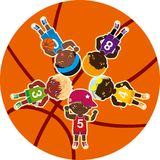 Basketball Teams Royalty Free Stock Images