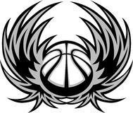 Basketball Template with Wings Stock Photo