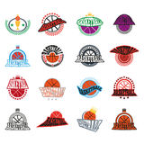 Basketball text badges variations Royalty Free Stock Photo