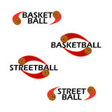 Basketball text for logo the team and the cup Royalty Free Stock Photography