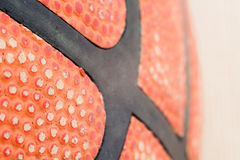 Basketball. Texture of the leather basketball Spalding designed for basketball stock photo