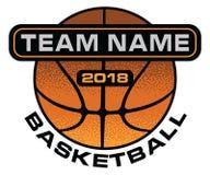 Basketball Textured Design Stock Photography