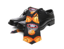 Basketball Tie and Shoes Stock Photography