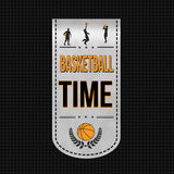 Basketball time banner design Royalty Free Stock Images