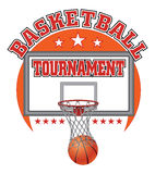Basketball Tournament Design Royalty Free Stock Image