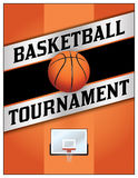 Basketball Tournamet Flyer Poster Illustration Stock Image