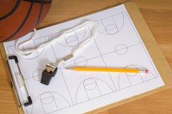 Basketball-Trainer-Felder Stockfoto