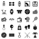 Basketball training icons set, simple style. Basketball training icons set. Simple set of 25 basketball training vector icons for web isolated on white Royalty Free Stock Photos
