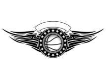 Basketball tribal Stock Image