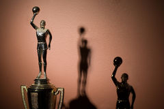 Basketball trophies Stock Images