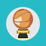 Basketball trophy flat design vector Stock Image