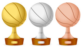 Basketball trophy set Stock Images