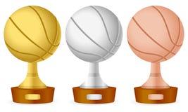 Basketball trophy set Stock Images