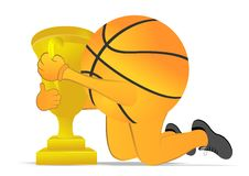 Basketball trophy Stock Photography