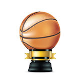Basketball trophy  on white Stock Photography
