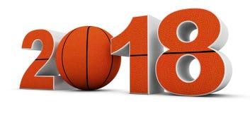 Basketball und 2018 Stockfoto