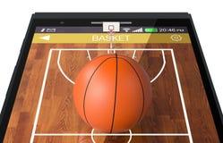 Basketball und neue Kommunikationstechnologie Lizenzfreie Stockfotos