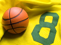 Basketball uniform and ball Stock Image