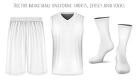 Basketball uniform vector templates Royalty Free Stock Photos