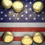 Basketball and USA wall background Royalty Free Stock Photography