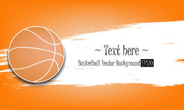 1880 - Basketball vector background Royalty Free Stock Photography