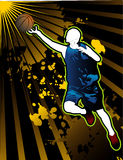 Basketball vector composition royalty free illustration