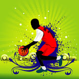 Basketball vector composition Royalty Free Stock Photo