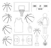 Basketball Vector Elements Royalty Free Stock Photography