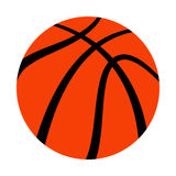 Basketball. A vector icon of an orange basketball Royalty Free Stock Images