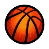 Basketball. A vector icon of an orange basketball Royalty Free Stock Image