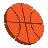 Basketball. A vector icon of an orange basketball Stock Photography