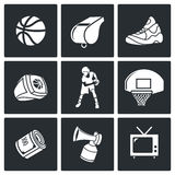 Basketball Vector Icons Set Stock Photos