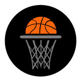 Basketball, vector Royalty Free Stock Image