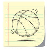 Basketball. Vector illustration of basketball in doodle style Royalty Free Stock Photos
