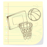Basketball. Vector illustration of basketball game theme in doodle style Stock Photo