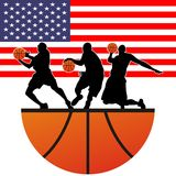 Basketball. Vector illustration for wallpaper picture Stock Photography