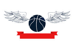 Basketball, vector. Illustration on white royalty free illustration